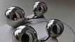 Серебряные серьги - гвоздики двухсторонние шарики, фото 2
