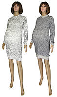 Обновление расцветок в серии теплых вязанных платьев для будущих мам Redgen Grey Melange ТМ УКРТРИКОТАЖ!