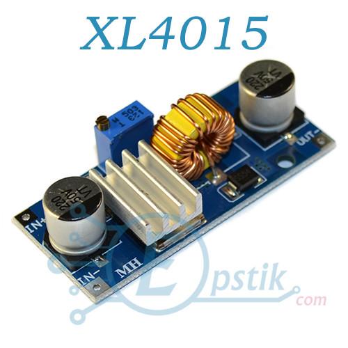 XL4015, DC-DC преобразователь понижающий, регулируемый от 1.2 - 36В, 5А