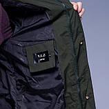 Чоловіча зимова куртка кольору хакі., фото 5