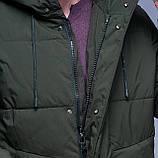 Чоловіча зимова куртка кольору хакі., фото 6