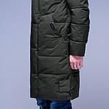 Чоловіча зимова куртка кольору хакі., фото 4