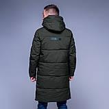 Чоловіча зимова куртка кольору хакі., фото 3