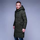 Чоловіча зимова куртка кольору хакі., фото 2