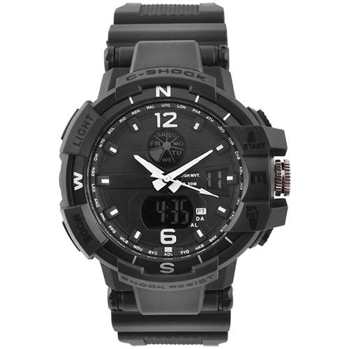 Годинники наручні C-SHOCK GWA-1100 Black-Silver