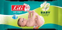 Серветка волога (60шт. )LILI дитяча ромашка 24шт. \ящ. зел