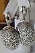 Серебряные серьги - круглые подвески, фото 2