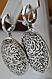 Серебряные серьги - круглые подвески, фото 4