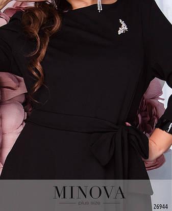 Шикарное нарядное вечернее черное платье в пол размеры: 52-58, фото 2