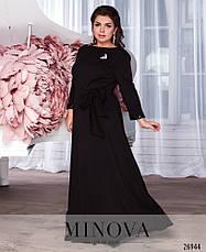 Шикарное нарядное вечернее черное платье в пол размеры: 52-58, фото 3