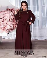 59cc30e8583 Шикарное нарядное вечернее бордовое платье в пол размеры  52-58