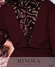Шикарное нарядное вечернее бордовое платье в пол размеры: 52-58, фото 2