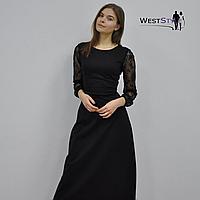 Плаття жіноче чорне з гіпюровими рукавами 40129d36d507b