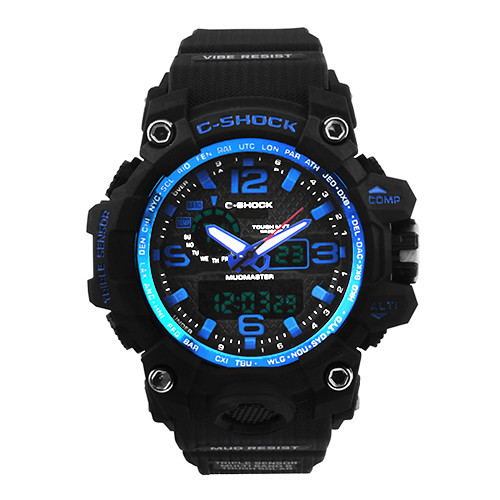 Годинники наручні C-SHOCK GWG-1000A Black-Blue, BOX