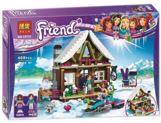 """Конструктор Bela 10731 """"Горнолыжный курорт: шале"""" Френдс, 408 деталей. Аналог Lego Friends 41323"""