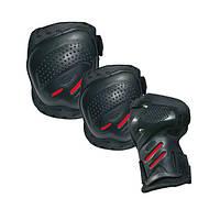 Комплект защиты для катания Tempish COOLMAX черно-красный