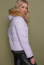 Жіноча зимова куртка-пуховик зеленого кольору з капюшоном і хутром розміри: xs,s,xl, фото 2