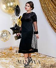 Нарядное праздничное вечернее новогоднее черное платье размеры: 54-64, фото 3