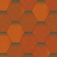 Битумная черепица Акваизол, Мозаика Теплый воск (антик+коричневый+антик)