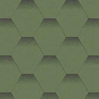 Битумная черепица Акваизол, Мозаика Альпийский луг (зеленый+черная тень)