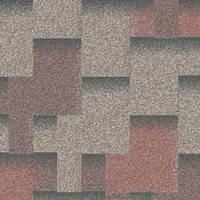 Битумная черепица Акваизол, Акцент Кедровый (красный+серый+коричневая тень)