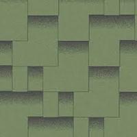 Битумная черепица Акваизол, Акцент Альпийский луг (зеленый+черная тень)