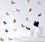Набор декоративных 3D бабочек  (19х17см), фото 3