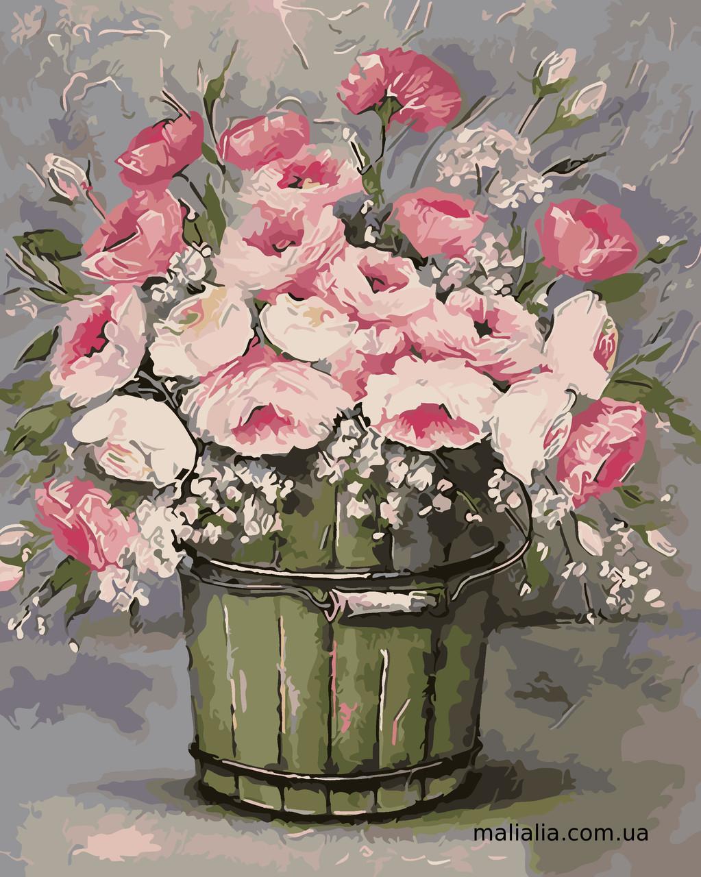 Картины по номерам 40*50 см В КОРОБКЕ Винтжный букет Artstory
