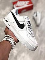 "Мужские кроссовки Nike Air Force 1 Low NBA ""White/Black"" (ТОП реплика), фото 1"