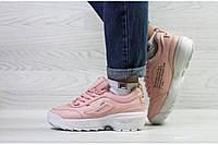 Кроссовки Fila 6867 розовые