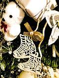 Коньки украшения на елку. Новогодние коньки из пластика, фото 2