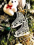 Коньки украшения на елку. Новогодние коньки из пластика, фото 4