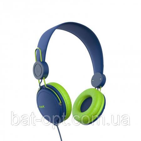 Наушники HAVIT HV-H2198D, with mic, сине-зеленые