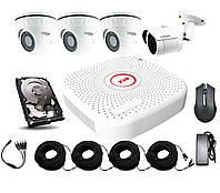 Универсальный комплект AHD видеонаблюдения Longse 2M1N3V c 4 камерами 2 Мп + HDD 1000Гб