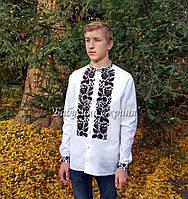 Заготовка чоловічої сорочки для вишивки нитками бісером БС-126ч 7ea3fc96855fc