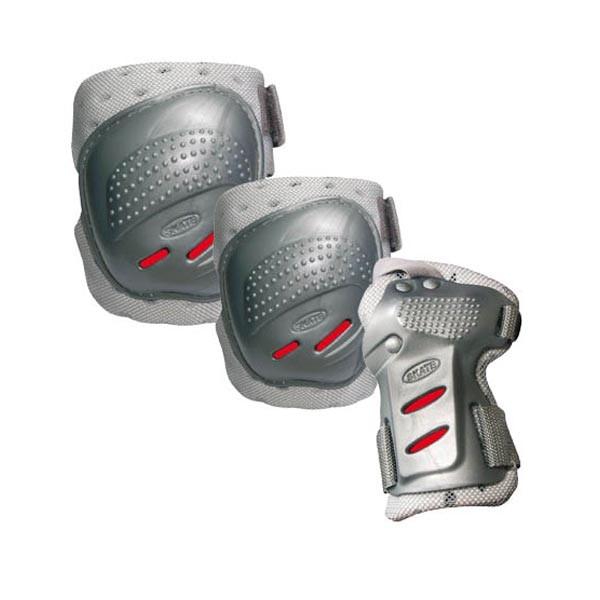 Комплект защиты для катания Tempish Coolmax cеребристо-красный