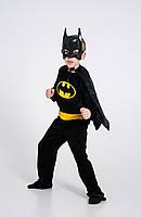 Детский карнавальный костюм Бетмен Batman Бэтмена велюр р.98-140