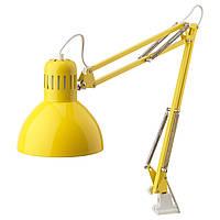 Лампа IKEA терциал жёлтая