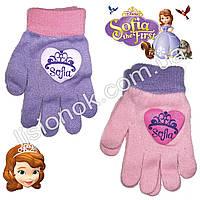 Демисезонные перчатки Принцесса София от Disney 3-6 лет, фото 1