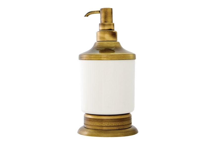 Дозатор для жидкого мыла настольный Kugu Versace Freestand 230A, бронза