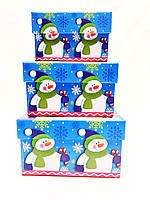 "Новогодняя подарочная коробочка ""Снеговик "" оптом"