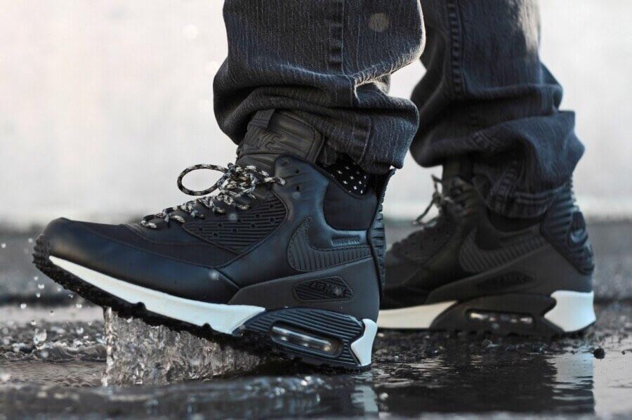 Кроссовки мужские зимние Nike Air Max 90 Sneakerboot Black white. ТОП  КАЧЕСТВО!!! Реплика класса люкс (ААА+) 6dc7a8f38bc