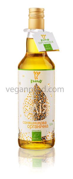 Масло подсолнечное органическое нераф. недез. Extra virgin, 500мл, Экород