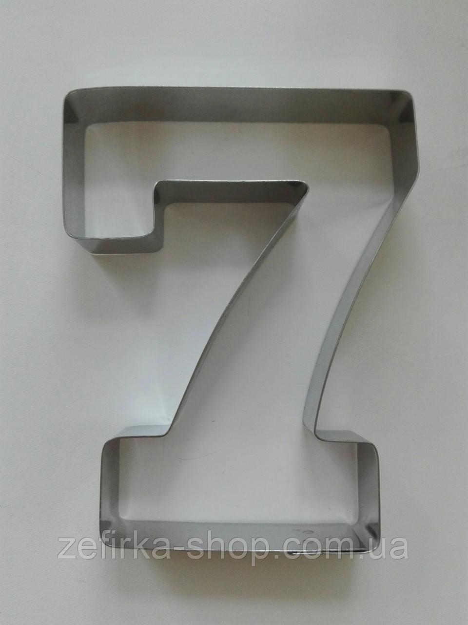 Вырубка для пряника и печенья цифра семерка
