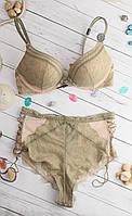 Комплект белья 32C 70C Victoria's Secret двойной пуш-ап трусики пеньюар Оригинал Виктория Сикрет