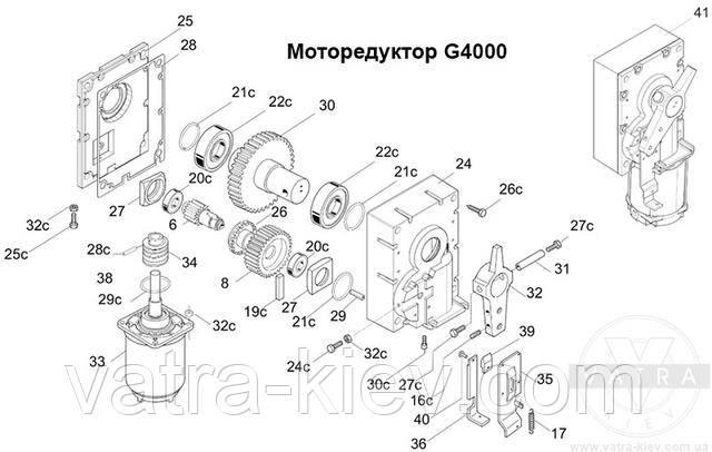 моторедуктор шлагбаума Came g4000 119rig194 купить цена