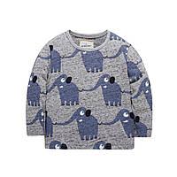 Кофта Elephant Jumping Beans 7 Темно-синяя с серым (22442)