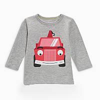 Кофта для мальчика Crane Car Jumping Beans 7 Серая (22413)