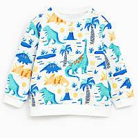 Кофта Dinosaurs Jumping Beans 7 Белая с голубым (22409)