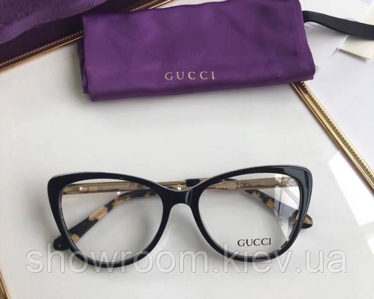 Женская пластиковая оправа в стиле Gucci 0137 черная